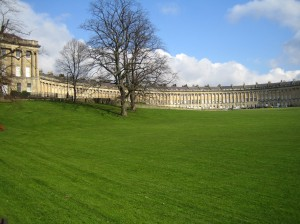 Clean and bright windows in a stunning part of Bath - with lots of windows for us to clean on the Royal Crescent