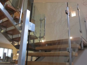 Clean and bright windows cleaning a glass staircase on a residential Bath property