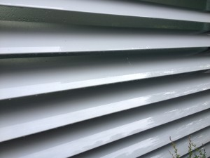 Clean and bright windows cleaning dirty vents on a property in Bath