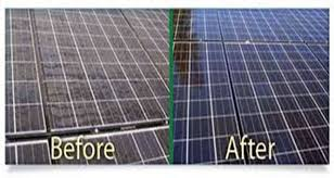 solar panels before and after