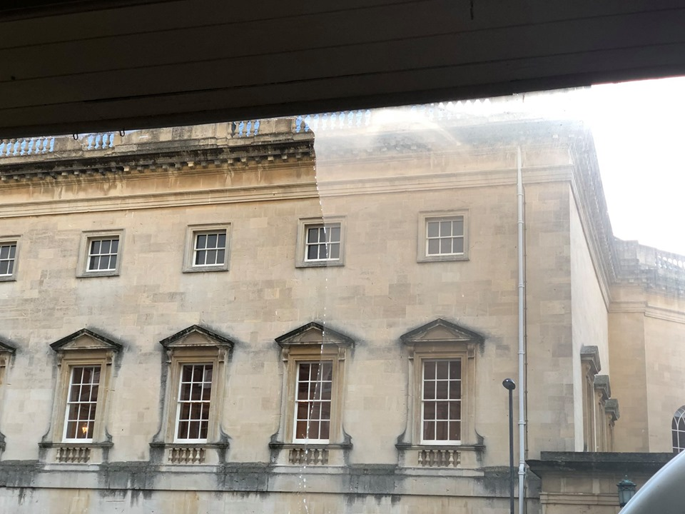 Bath window cleaning difference